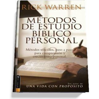 Metodo de Estudio Bíblico Personal – Rick Warren Este Libro es fácil de ente…