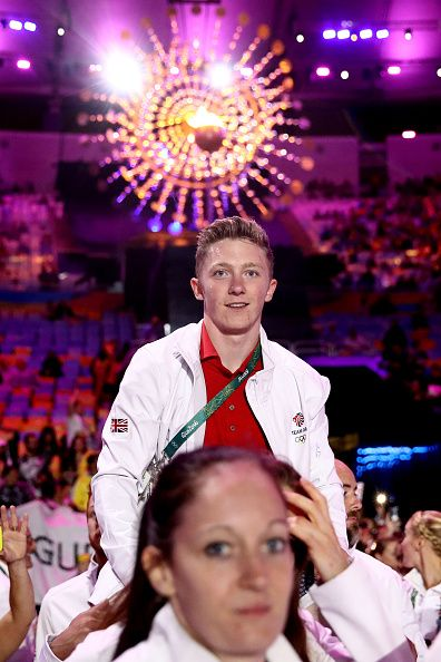 Nile Wilson of Great Britain walks in the 'Heroes of the Games' segment during…