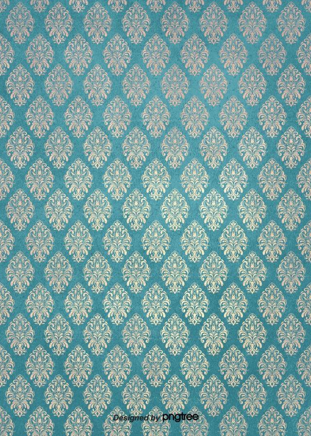 Biru Vintage Bunga Pola Latar Belakang Retro Background Background Patterns Old Photo Texture