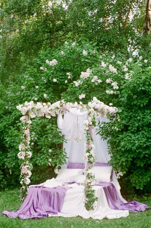 Fairy Tale Wedding Bed | Warmphoto | Sleeping Beauty - An Enchanted Bridal Morning