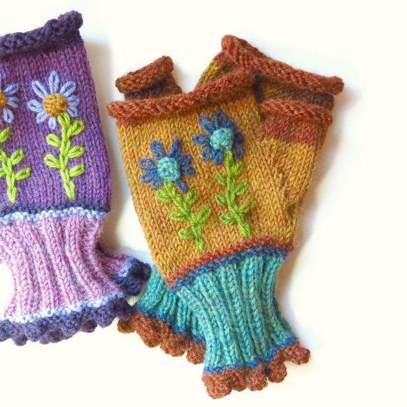 INVERNI ALPINE Baby Alpaca Brown Fingerless Women Gloves