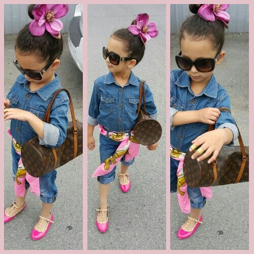 Kids summer fashion outfit.