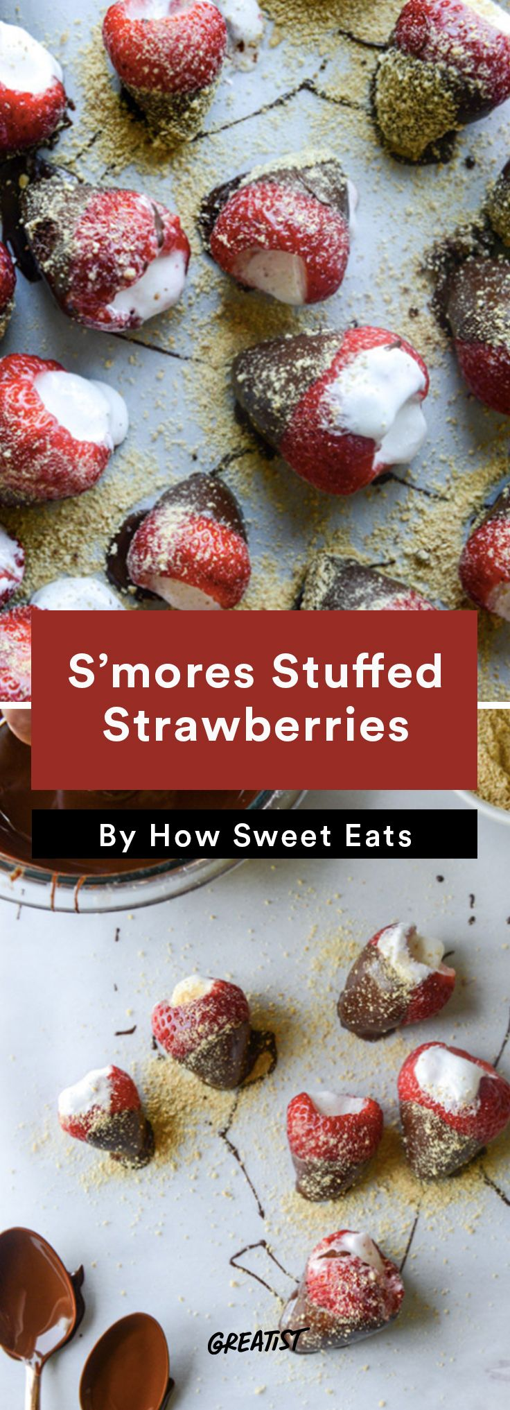 10. S'mores-Stuffed Strawberries http://greatist.com/eat/smores-recipes-to-make-indoors
