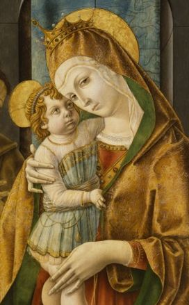 Carlo Crivelli (ca. 1430-1495), Madonna and Child with Saints and Donor, 1485-90, tempera en olieverf op paneel