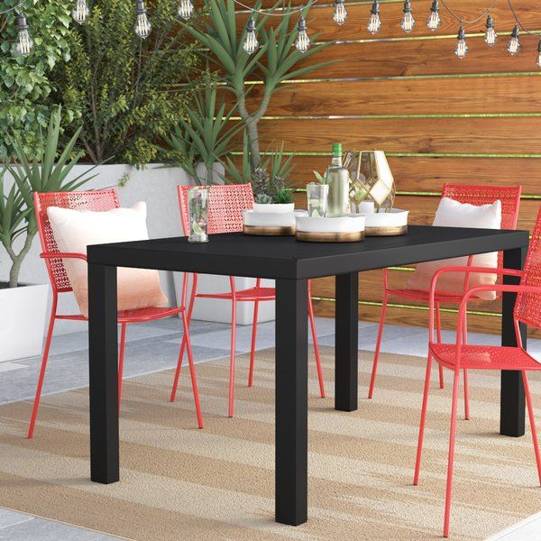 Ashley Plastic Resin Dining Table Dining Table Metal Dining