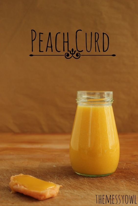 Peach Curd, sweet and creamy paradise - The Messy Owl #recipe #peach #curd