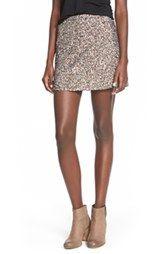 Billabong Sequin A-Line Miniskirt