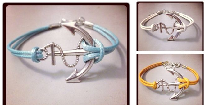 Handcrafted Anchor Bracelets – 15 Colors!