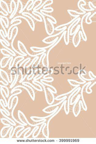 White bobbin lace vector texture leafs background for all. Eps10 #lace #bobbin #vector #shutterstok  #illustration #wedding  #retro #vintage