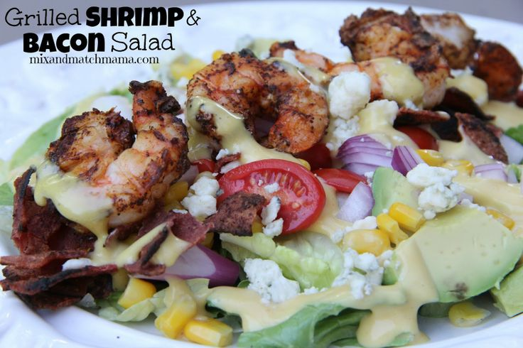 Mix and Match Mama: Dinner Tonight: Grilled Shrimp and Bacon Salad