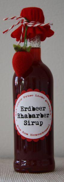 Erdbeer Rhabarber Sirup