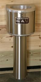 Nelson Automatic Horse Waterer mounted on a stall wall.  This waterer can also be plumbed backed to back with one waterline servicing two stalls. Beautiful!