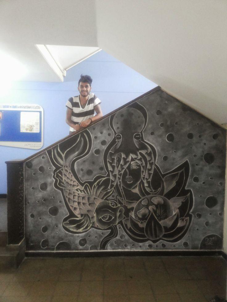 Mural de Miguel Dïaz, estudiante de la #academiaSuperiorDeArtes.