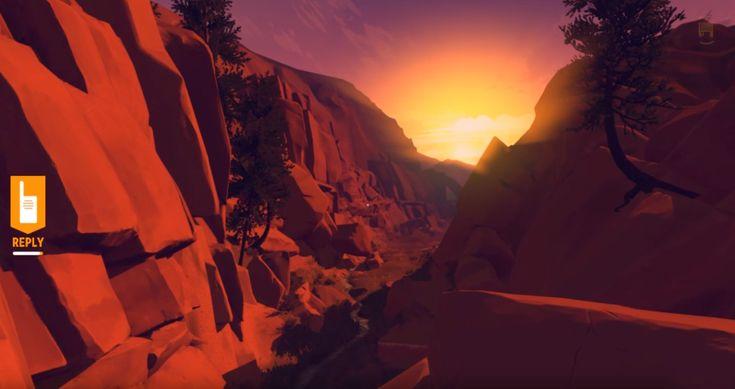 """JEUX VIDEO. """"Firewatch"""" : feu de forêt, exploration et introspection"""