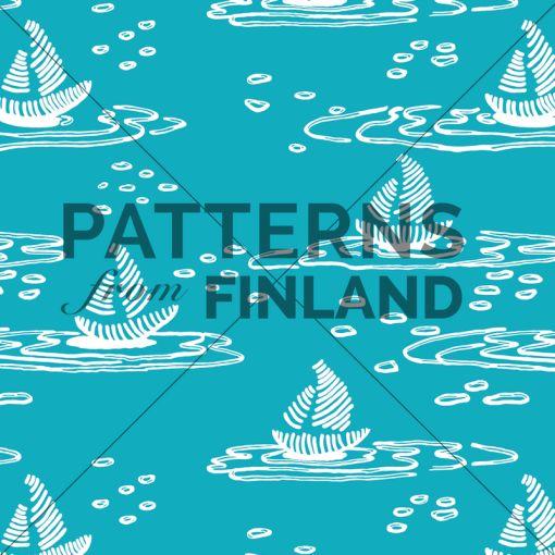 Ilana Vähätupa: Saaristo – Paatti #patternsfromagency #patternsfromfinland #pattern #patterndesign #surfacedesign #printdesign #ilanavahatupa