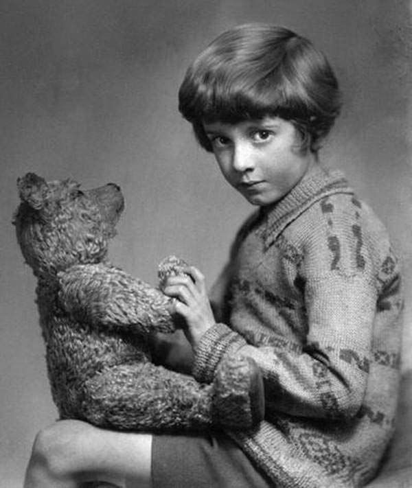 The real Winnie the Pooh and Christopher Robin, circa 1927