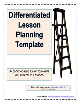 654 best images about school stuff on pinterest for Lesson plan template for differentiated instruction