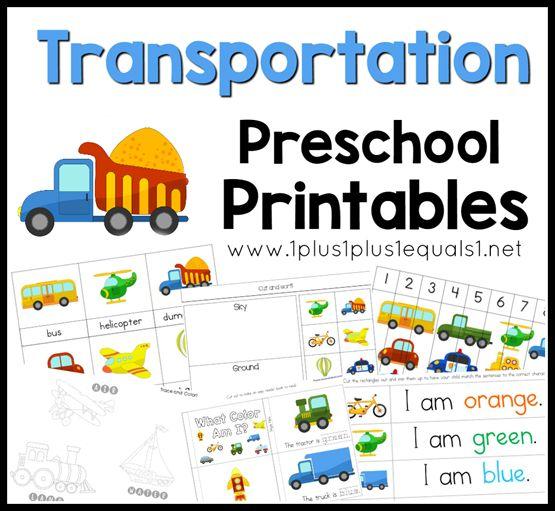 transportation preschool printables f a little bit of learning for the kiddos pinterest. Black Bedroom Furniture Sets. Home Design Ideas