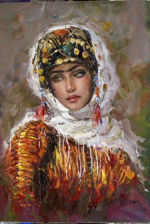 Female Beauty in the paintings of Turkish artist Ramzi Taskiran