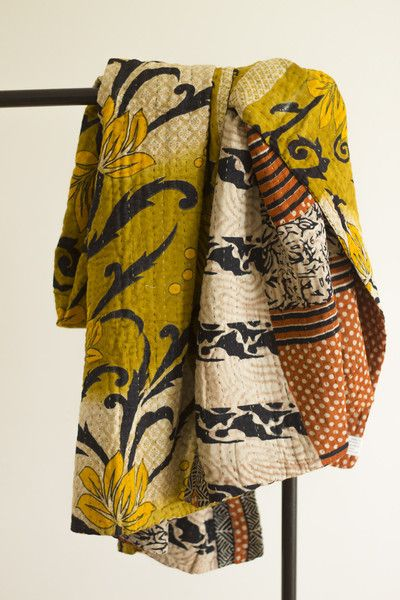 Kantha Throw Blanket