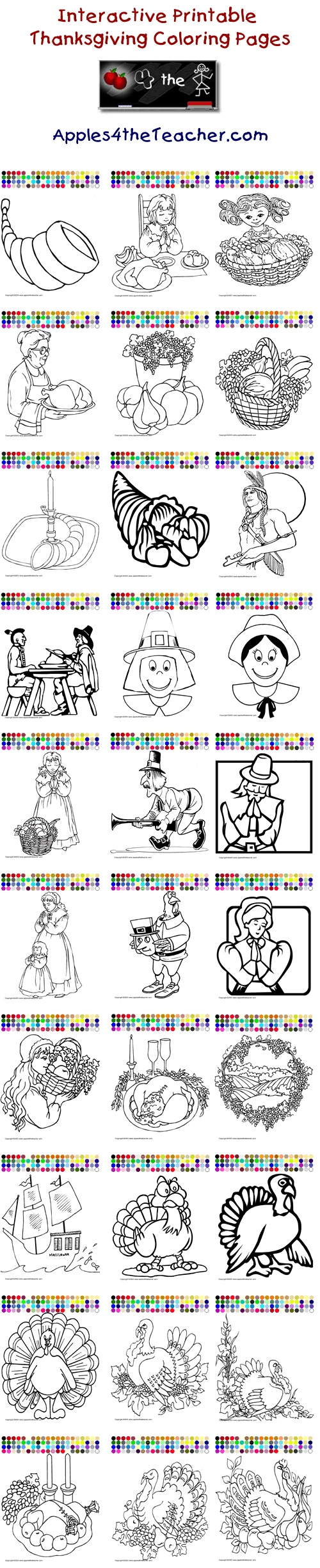 interactive thanksgiving coloring pages - photo#35