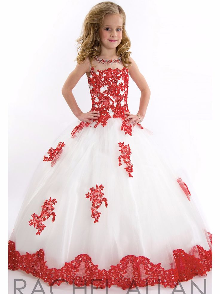 Glitz Beading Princess Girls Pageant Dress Children Pink Little ...