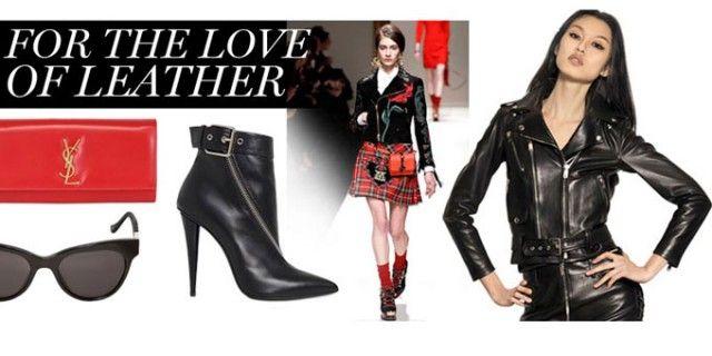 La prossima stagione atutunno inverno 2013/14 è un vero e proprio trionfo di giacche ed accessori in pelle nera e rossa.