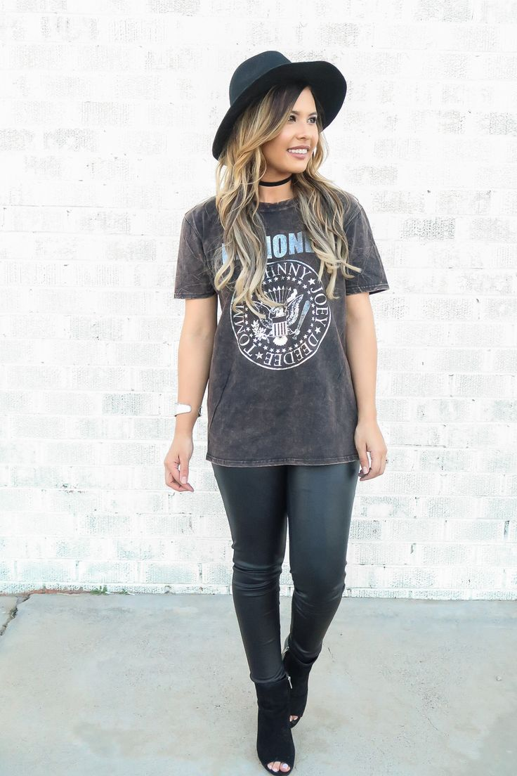 Steeltoes & Stilettos: Band Tees for The Win  Band Tee Outfits