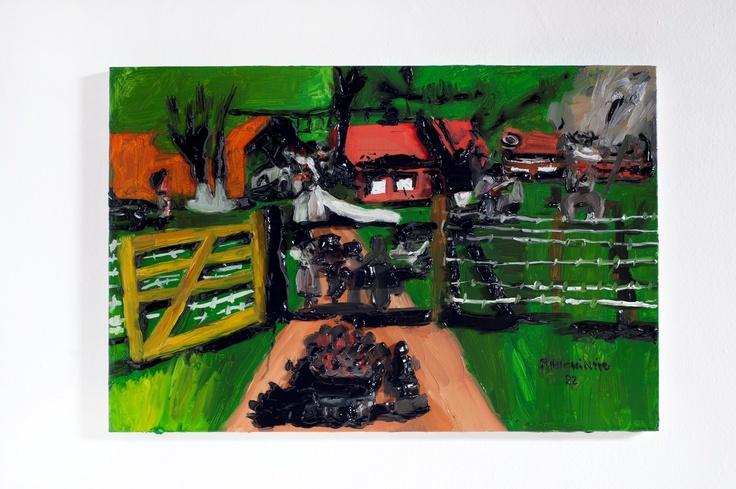 Rodrigo Andrade - 2012 |  Versão sobre obra de Ranchinho Casório - 1982 |  Óleo sobre tela sobre mdf |  40 x 60 cm