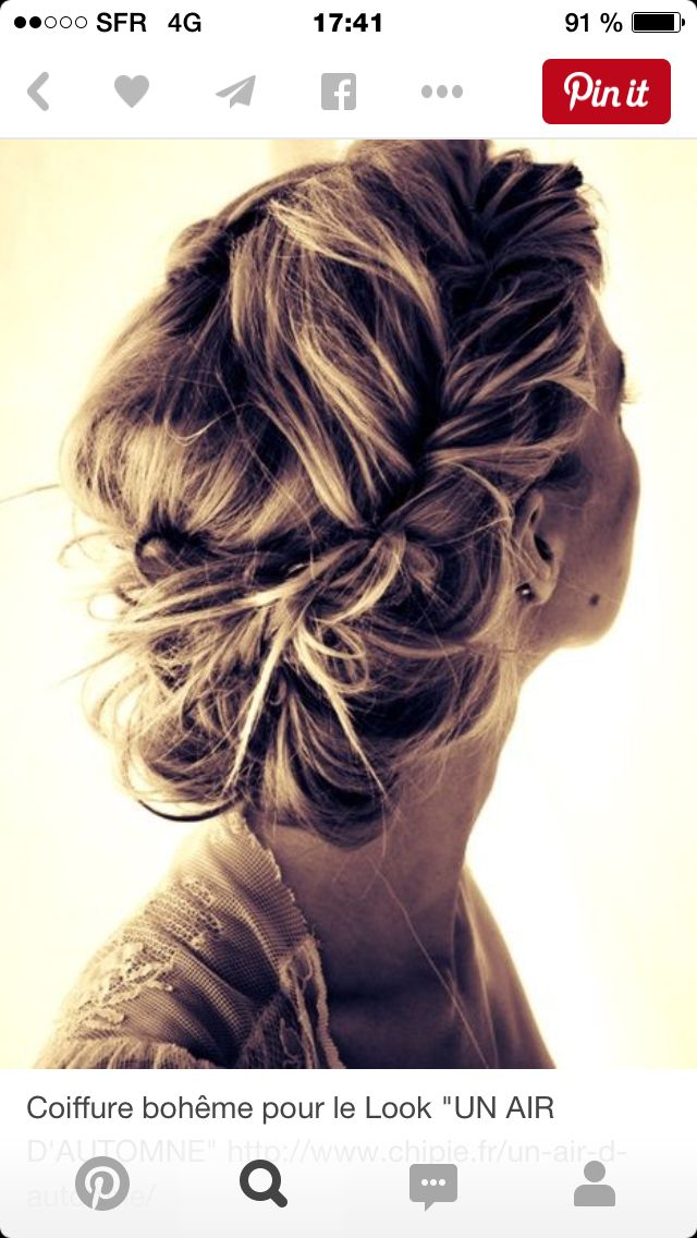 Pingl par martine toledano sur coiffures mariage pinterest - Coiffure semi attache ...