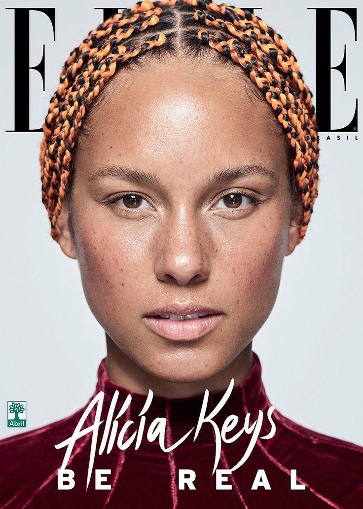 Alicia Keys está sem maquiagem, linda e poderosa em QUATRO capas da ELLE Brasil