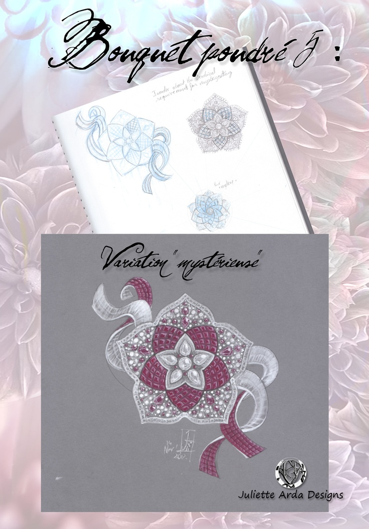 """serti mystérieux"" or ""mystery setting"",  a Van Cleef & Arpels signature, a design exercise : clip diamant et rubis, juliette arda"