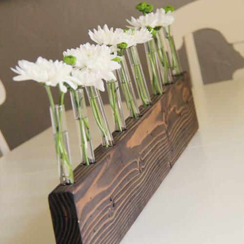 Diy bud vase centerpiece flower and crafts logs