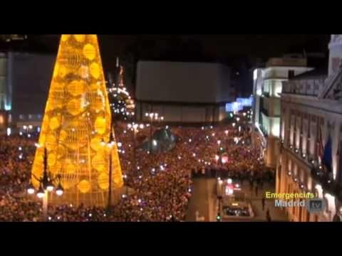Imágenes aéreas del Drone en la Puerta del Sol en Nochevieja (01/01/2014)