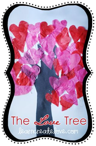 Cute Valentines Day Craft from www.LearnCreateLo... ~ Tree of Love Handprint Craft