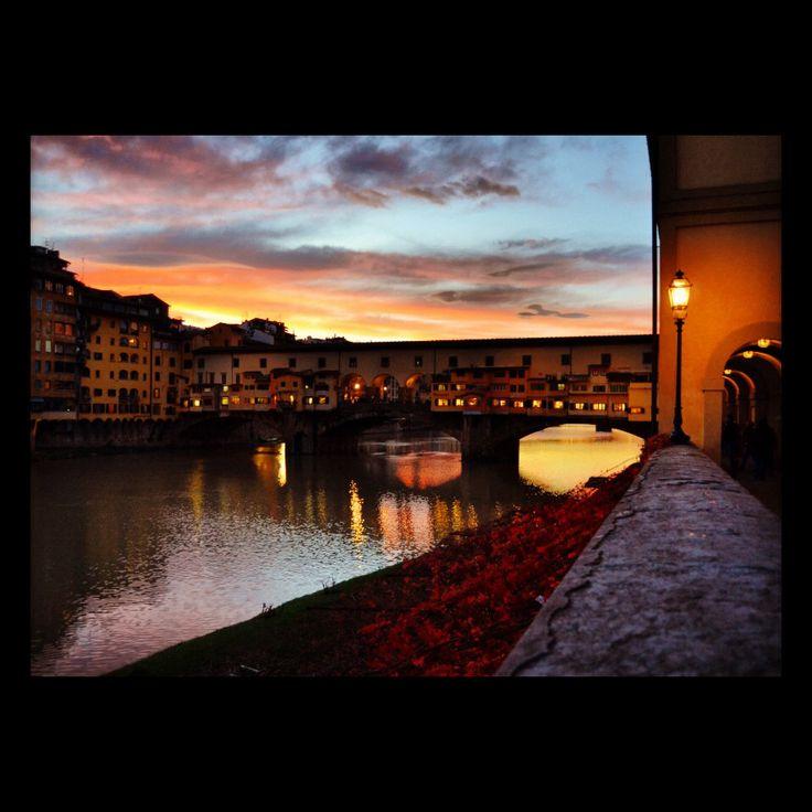 Ponte vecchio, #Firenze, #italy #sunset
