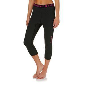 Prolimit Wetsuit Pants - Prolimit Womens SUP Athletic 2017 Quick Dry 3/4 Leg Wetsuit Pants - Black/ Pink Print