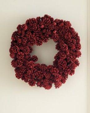 Autumn wreath inspiration, pine cones!