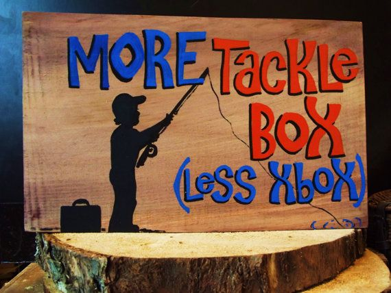 Catchy gift for Fishing enthusiasts: wood sign by expressionshop