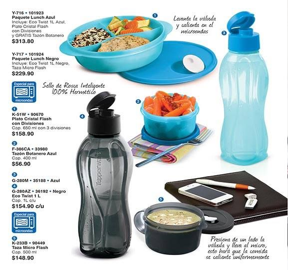 Paquete lunch ideales para llevar una comida balanceada al - Llevar comida al trabajo ...