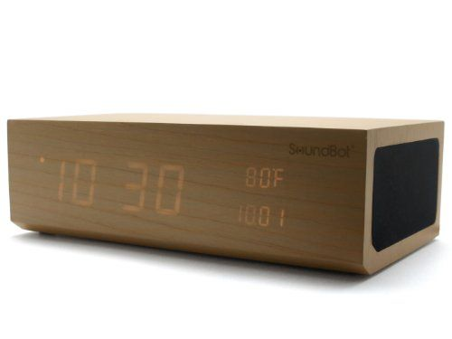 SoundBot® SB1010 8 in 1 Multi-Function Station w/ Bluetooth Connectivity, Stereo Audio Speaker, Built-In Microphone, Alarm Clock, Thermometer, 2.1A USB Charging port, 3.5mm Audio Port and Large LED time and date Display for Home/Office, Smart Phone, Media Players, Laptop/Desktop PC, and Tablets by SoundBot, Natural Wood soundbot http://smile.amazon.com/dp/B00H1YE5BI/ref=cm_sw_r_pi_dp_EXcqub18NGZ4N
