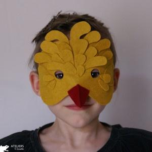 Masque poussin, Ateliers Reinettes