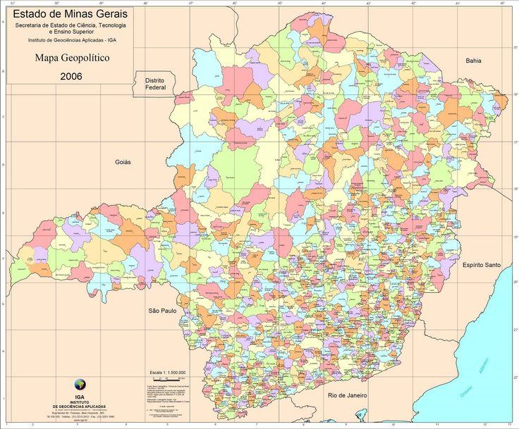 Mapa De Minas Gerais Cidades Mapa Por Regiao Mapa Politico Mapa Minas Gerais Mapa Estado De Minas Gerais