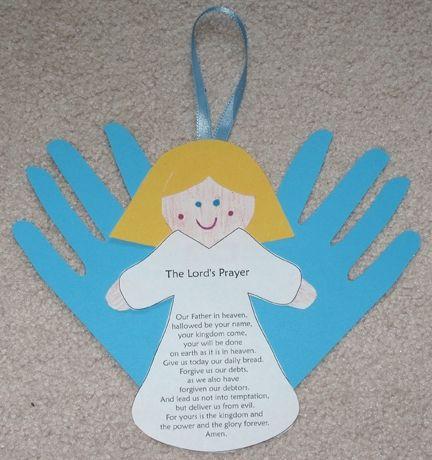 Preschool Craft Angel Visits Mary