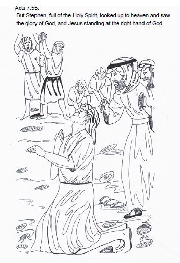 Stoning Of Stepen Free Colouring Pages