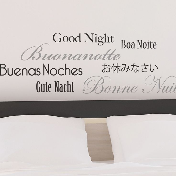 Found it at Wayfair - Brewster Home Fashions Euro Good Night Wall Quote Decals