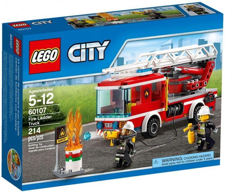 LEGO CITY / Город / Пожарный автомобиль с лестницей 60107 / Лего Салон - фирменный магазин конструкторов и игрушек LEGO в Москве - Развивающие игрушки, обучающие игры, конструкторы