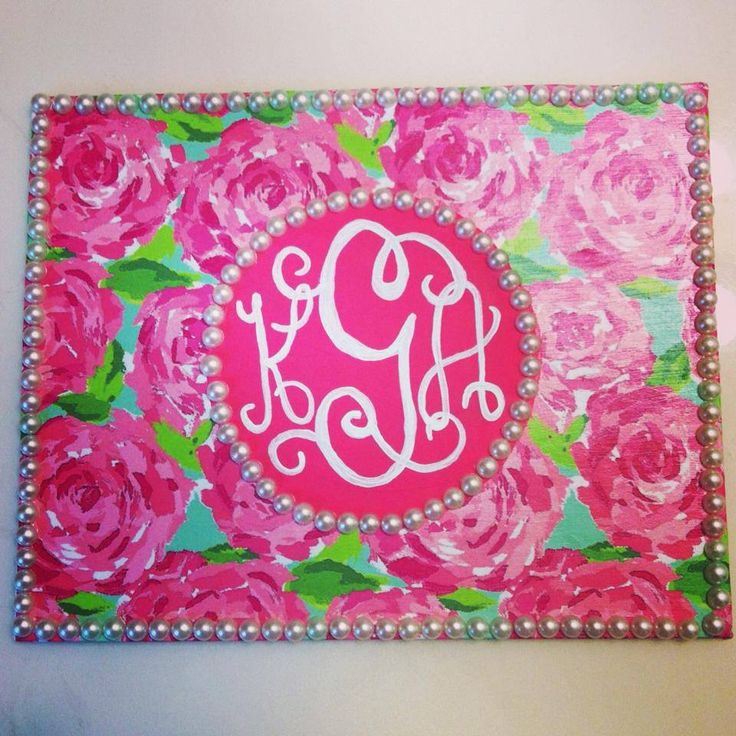 25 Best Ideas About Monogram Painting On Pinterest