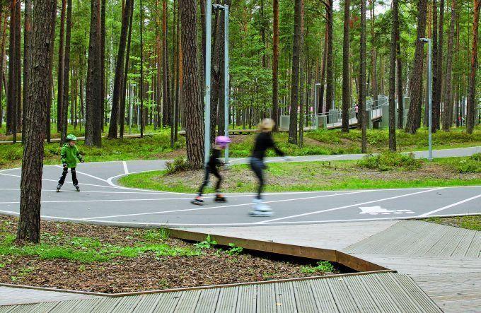 Dzintaru skovpark i Jurmala (Letland) til både børn, voksne, familier - caféer, aktiviteter, fællesskab og hygge for alle!