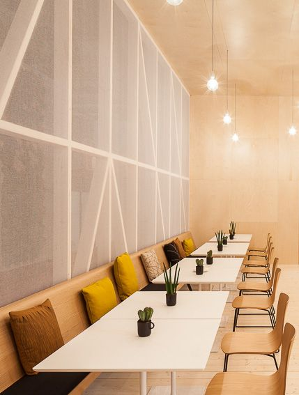 1840 Interior Design: Office Restaurant With Zinta Bench, Dizzie Tables And Aava